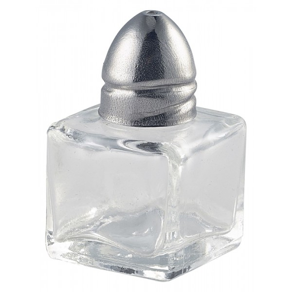 Individual Glass Salt Pot 30 x 30 x 50mm