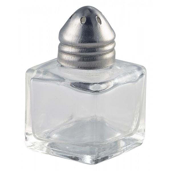 Individual Glass Pepper Pot 30 x 30 x 50mm