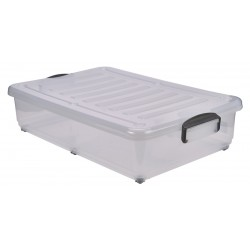 Storage Box 40L W/ Clip Handles On Wheels (pack of 4)