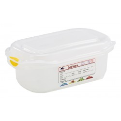 GN Storage Container 1/9 65mm Deep 0.6L (supplied with lid) (pack of 6)
