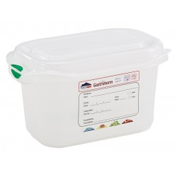 GN Storage Container 1/9 100mm Deep 1L (supplied with lid) (pack of 6)