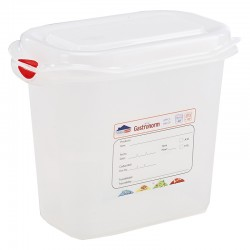 GN Storage Container 1/9 150mm Deep 1.5L (supplied with lid) (pack of 6)