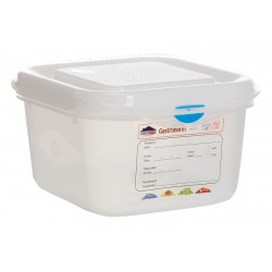 GN Storage Container 1/6 100mm Deep 1.7L (supplied with lid) (pack of 12)