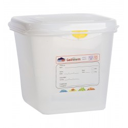 GN Storage Container 1/6 150mm Deep 2.6L (supplied with lid) (pack of 12)