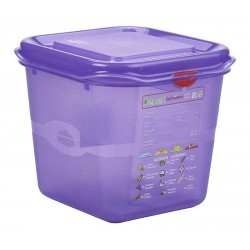 Allergen GN Storage Container 1/6 150mm Deep 2.6L (pack of 6)