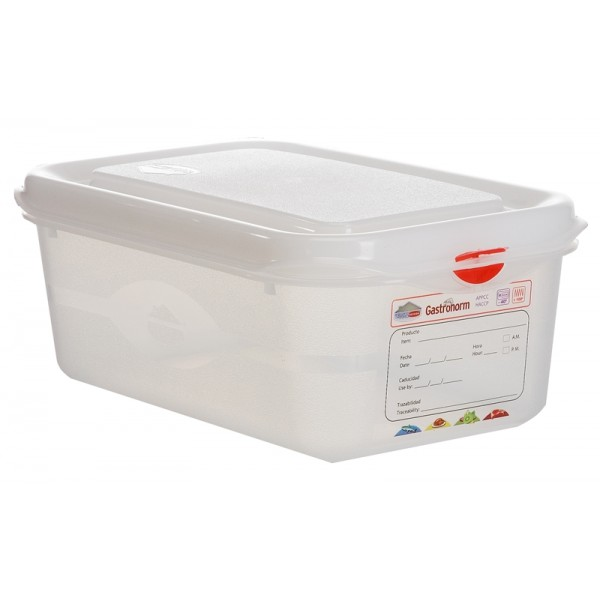 GN Storage Container 1/4 100mm (supplied with lid) (pack of 6)