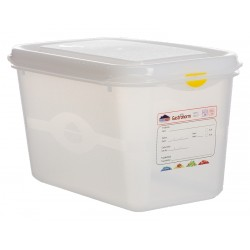 GN Storage Container 1/4 150mm Deep 4.3L (supplied with lid) (6pk)
