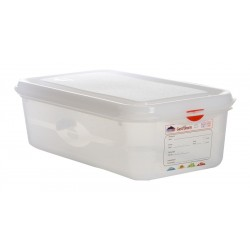 GN Storage Container 1/3 100mm Deep 4L (supplied with lid) (pack of 6)
