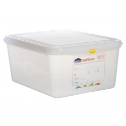 GN Storage Container 1/2 150mm Deep 10L (supplied with lid) (pack of 6)
