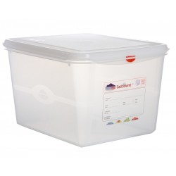 GN Storage Container 1/2 200mm Deep 12.5L (supplied with lid) (pack of 6)