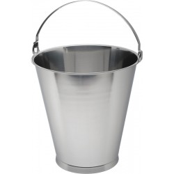 Swedish Stainless Steel Skirted Bucket 15L Graduate 305mm dia