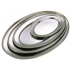 """Stainless Steel Oval Flat 16""""(11564) ** 27cm wide"""