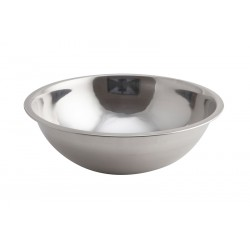 Genware Mixing Bowl Stainless Steel  3 Litre 27 (Dia.) x 8.5 (H) cm