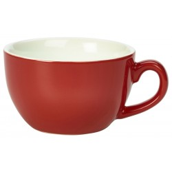 Royal Genware Bowl Shaped Cup 17.5cl/6oz Red (Pack of 6)