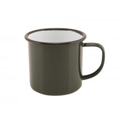 Enamel Mug Green 36cl/12.5oz 9 (Dia.) x 8 (H) cm