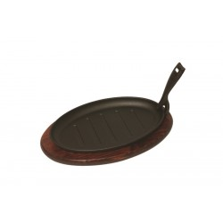 "Sizzler Platter & Trivet Sizzler 9.75"" dish 25cmx16cm"