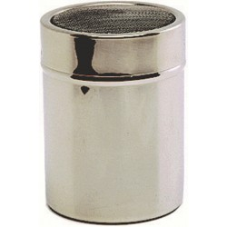Stainless Steel Shaker With Mesh Top.(Plastic Cap) 7 (Dia)x9.5(H)cm