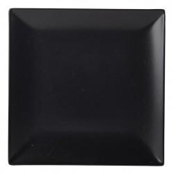 Luna Square Coupe Plate 26cm Black Stoneware (pack of 6)