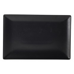 Luna Rect.Coupe Plate 30X20cm Black Stoneware (pack of 6)