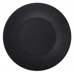 Luna Wide Rim Plate 30.5cm Dia. Black Stoneware (pack of 6)