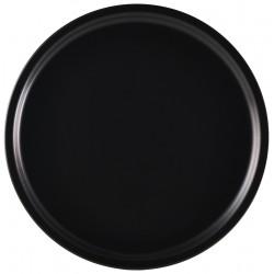 Luna Pizza Plate 33cm Dia Black Stoneware (Pack of 6)