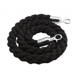 Barrier Rope Black - Use W/Code Bp-Rpe 1.5m long (rope only)  Polyester Silk