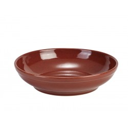 Terra Stoneware Rustic Red Coupe Bowl 27.5cm