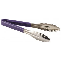 Genware Colour Coded St/St. Tong 23cm Purple