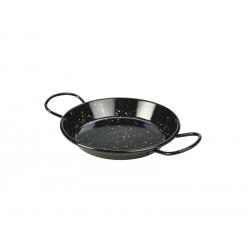 Black Enamel Miniature Paella Pan 15cm Height 2.4cm (pack of 10)