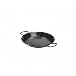 Black Enamel Paella Pan 20cm Height 2.5cm (pack of 6)