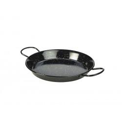 Black Enamel Paella Pan 26cm Height 3.5cm (pack of 6)