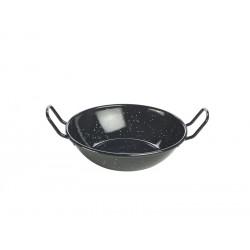Black Enamel Dish 16cm Height 4cm - 52cl/18.5oz (pack of 10)