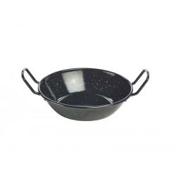 Black Enamel Dish 18cm Height 4.6cm - 78cl/27.5oz (pack of 6)