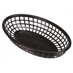 Fast Food Basket Black 23.5 x 15.4cm (pack of 6)