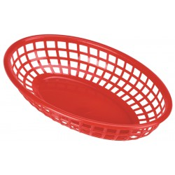 Fast Food Basket Red 23.5 x 15.4cm (pack of 6)