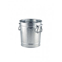 Miniature Galvanised Bin 14x12x15cm