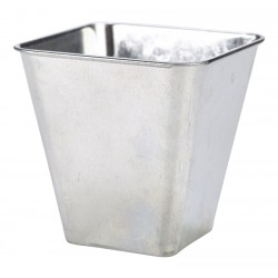 Galvanised Steel Flared Serving Tub 10 x 10 x 10cm 50cl / 17.5oz