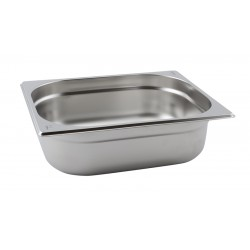 Stainless Steel Gastronorm Pan 1/2 65mm Deep size 325x265mm