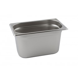 Stainless Steel Gastronorm Pan 1/4 - 200mm Deep 13.7cm width