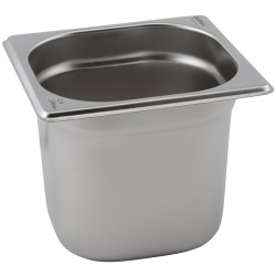 Stainless Steel Gastronorm Pan 1/6 - 65mm Deep