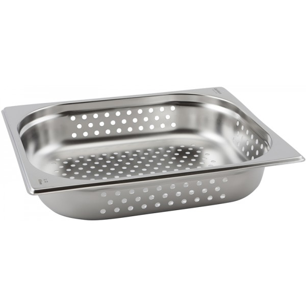 Perforated Stainless Steel Gastronorm Pan 1/2 - 100mm Deep