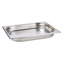 Perforated Stainless Steel Gastronorm Pan 1/2 - 40mm Deep