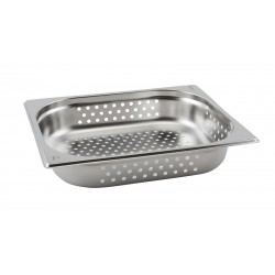 Perforated Stainless Steel Gastronorm Pan 1/2 - 65mm Deep
