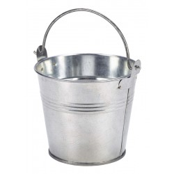 Galvanised Steel Serving Bucket 10cm Dia. 50cl/17.6oz
