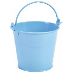Galvanised Steel Serving Bucket 10cm Dia Blue