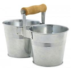 Galvanised Steel Combi Serving Buckets 10cm Dia.