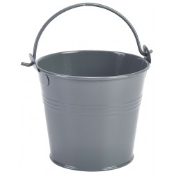 Galvanised Steel Serving Bucket 10cm Dia Grey