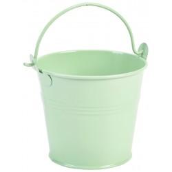 Galvanised Steel Serving Bucket 10cm Dia Green