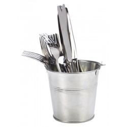 Galvanised Steel Serving Bucket 12cm Dia. Height 11cm - 80cl/28.2oz