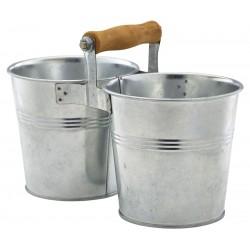 Galvanised Steel Combi Serving Buckets 12cm Diameter